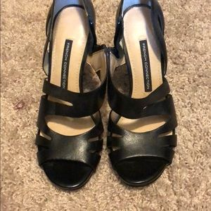 French connection Black heels